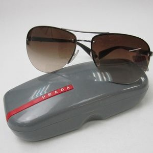 66bbee30e0705 Prada Linea Rossa Accessories - Prada SPS 56M Aviator Sunglasses  Italy OLI754